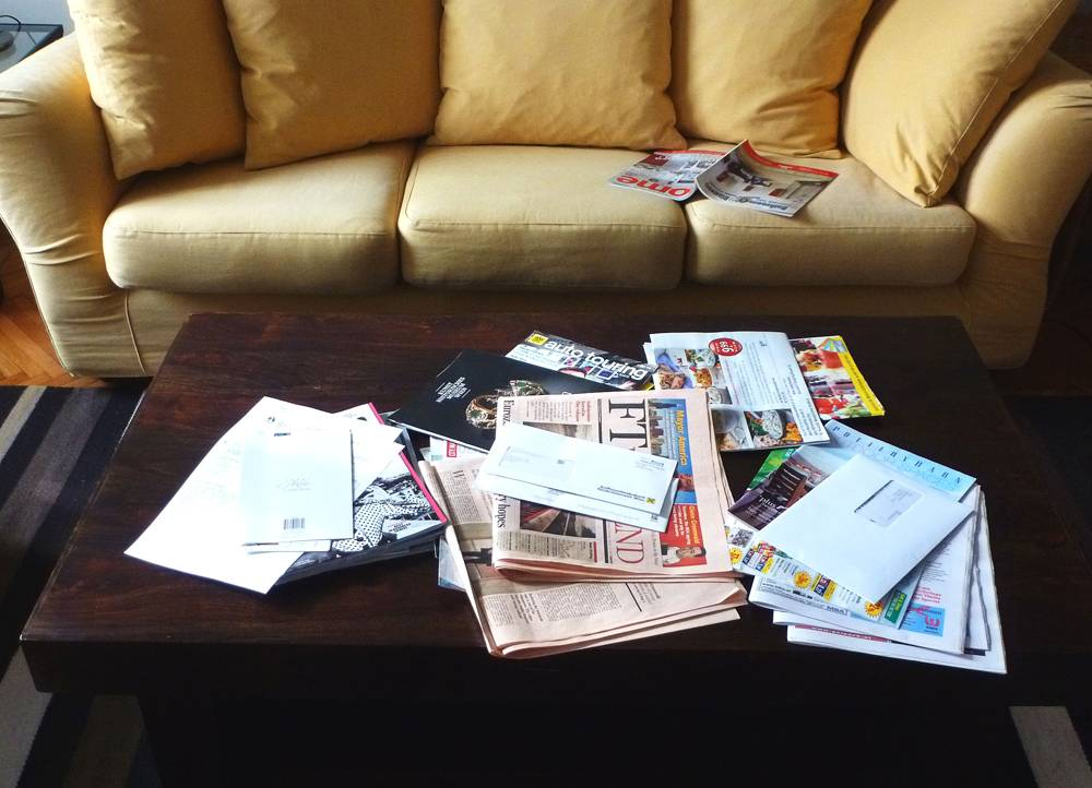 How to Avoid Drowning in Paper Clutter