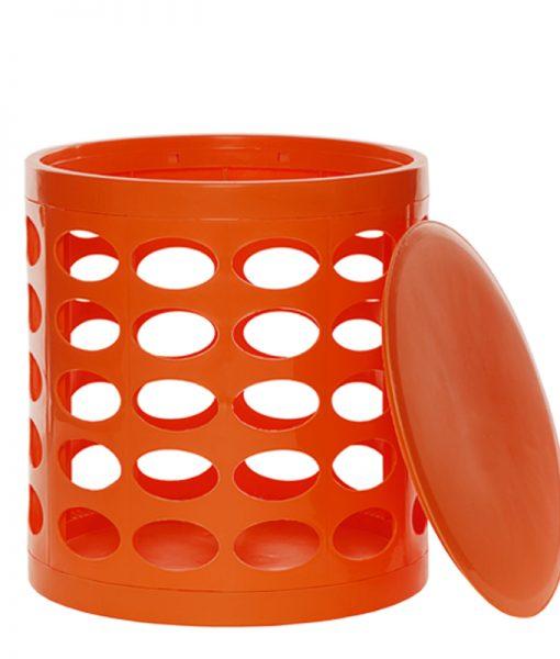 OTTO Storage Stool – Dark Orange