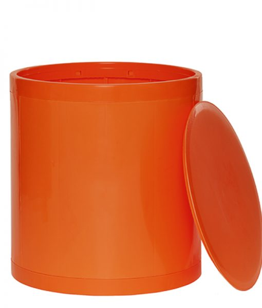 OTTO Storage Stool Solid – Dark Orange