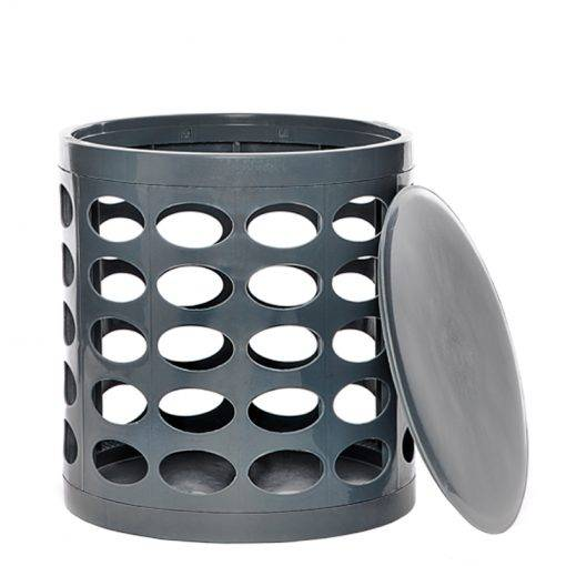 Otto Storage Stool Grey