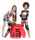 OTTO-storage-stool-red-with-tow-girls-and-skates-800×800