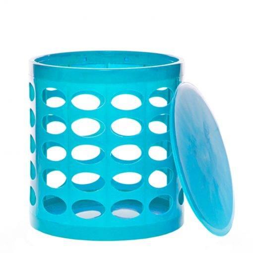 OTTO Storage Stool – Turquoise Blue