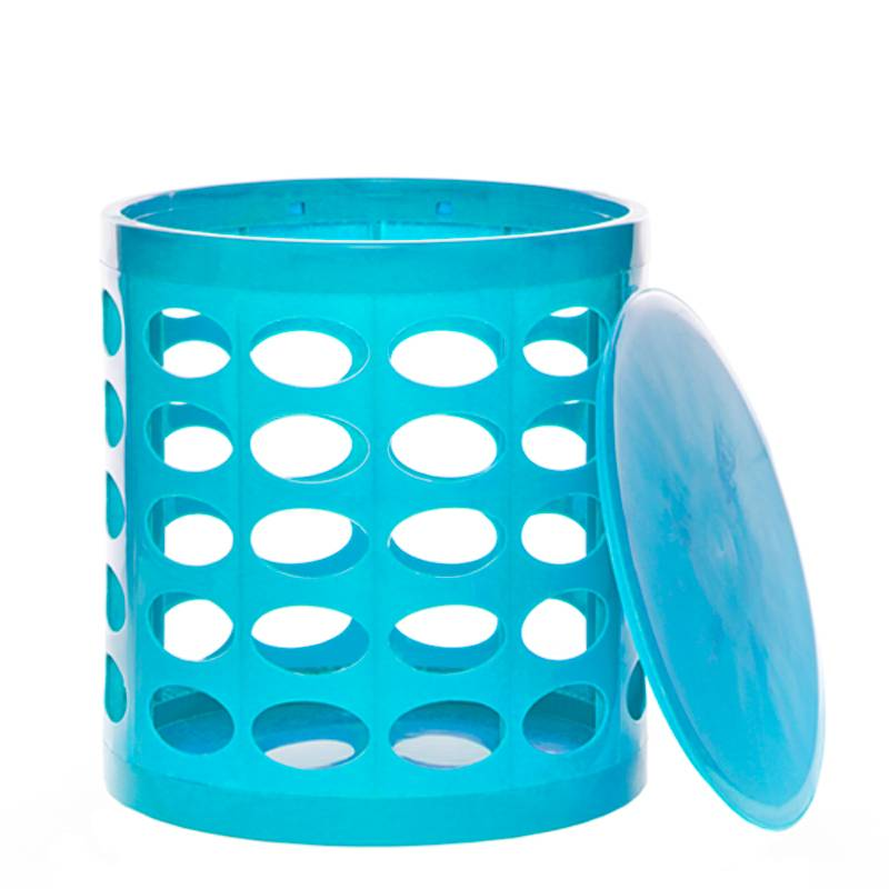 OTTO Storage Stool – Turquoise Blue