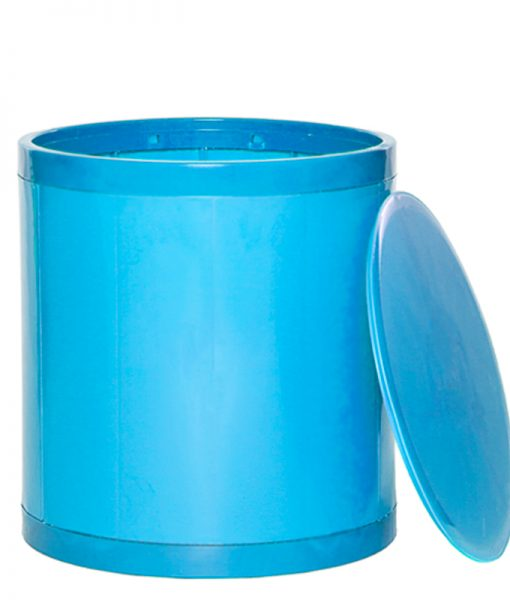 OTTO Storage Stool Solid – Turquoise Blue
