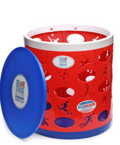 Soccer OTTO Storage Stool – red/white/blue