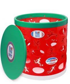 Soccer OTTO Storage Stool – red/green/white