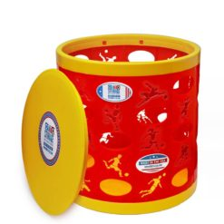 Soccer OTTO Storage Stool – red/yellow/yellow