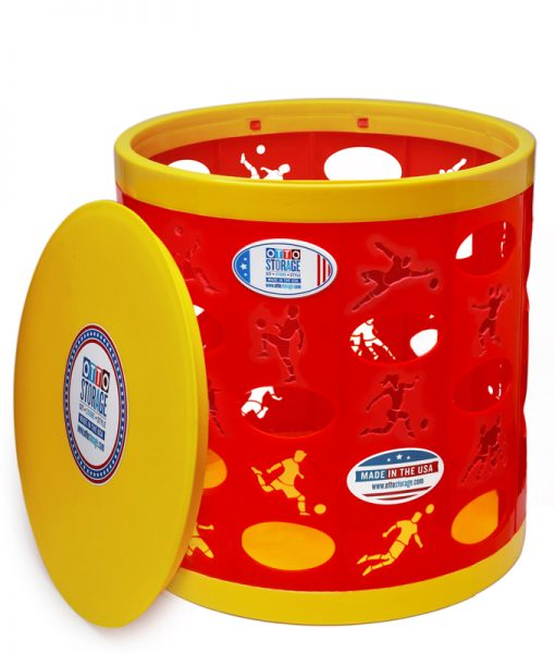 Soccer OTTO Storage Stool – red/yellow/yellow