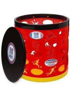 Soccer OTTO Storage Stool – red/black/yellow