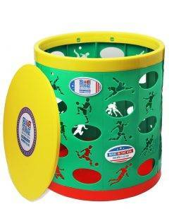 Soccer OTTO Storage Stool – green/yellow/red