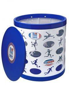 Soccer OTTO Storage Stool – white/blue/blue